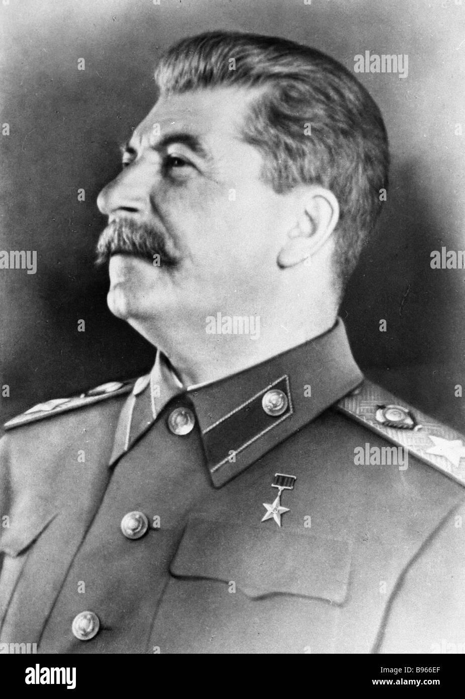Political leader and statesman Josef Stalin - Stock Image