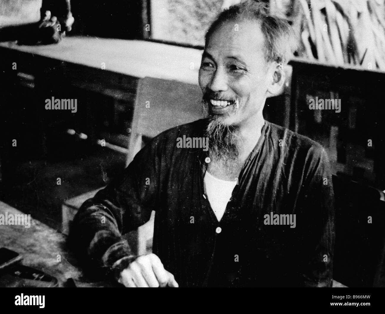 Ho Chi Minh Chairman of the Central Committee of the Vietnam Workers Party - Stock Image