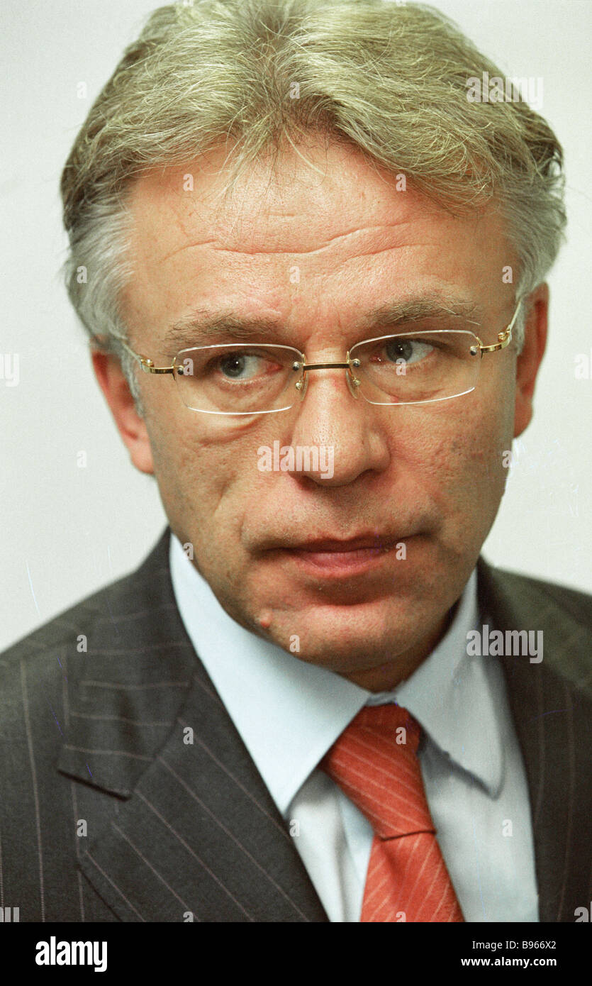 Vyacheslav Fetisov Director Federal Agency for Physical Culture Sport and Tourism - Stock Image