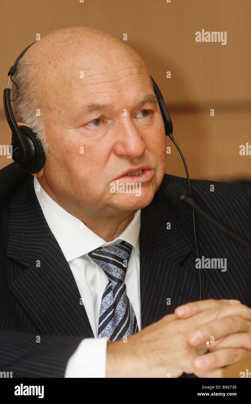 Yuri Luzhkov Moscow mayor - Stock Image