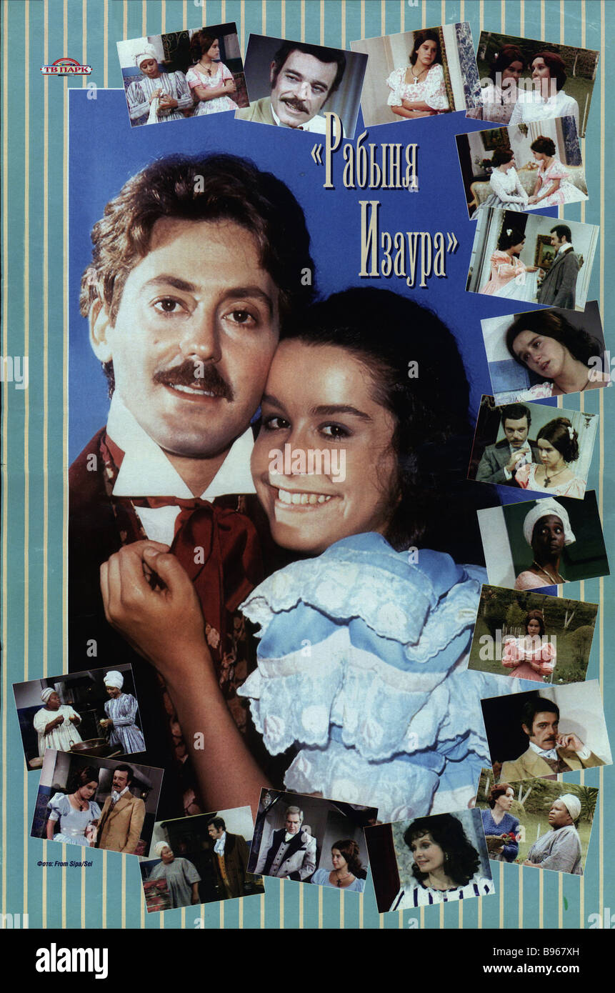 Slave Isaura TV series poster - Stock Image