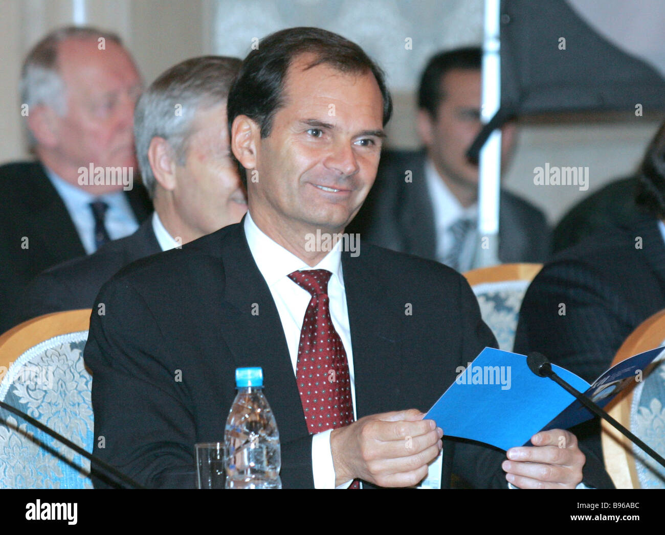 Dennis Jonsson president Tetra Pak at the 21st meeting of the Consultative Council for Foreign Investment in Russia - Stock Image