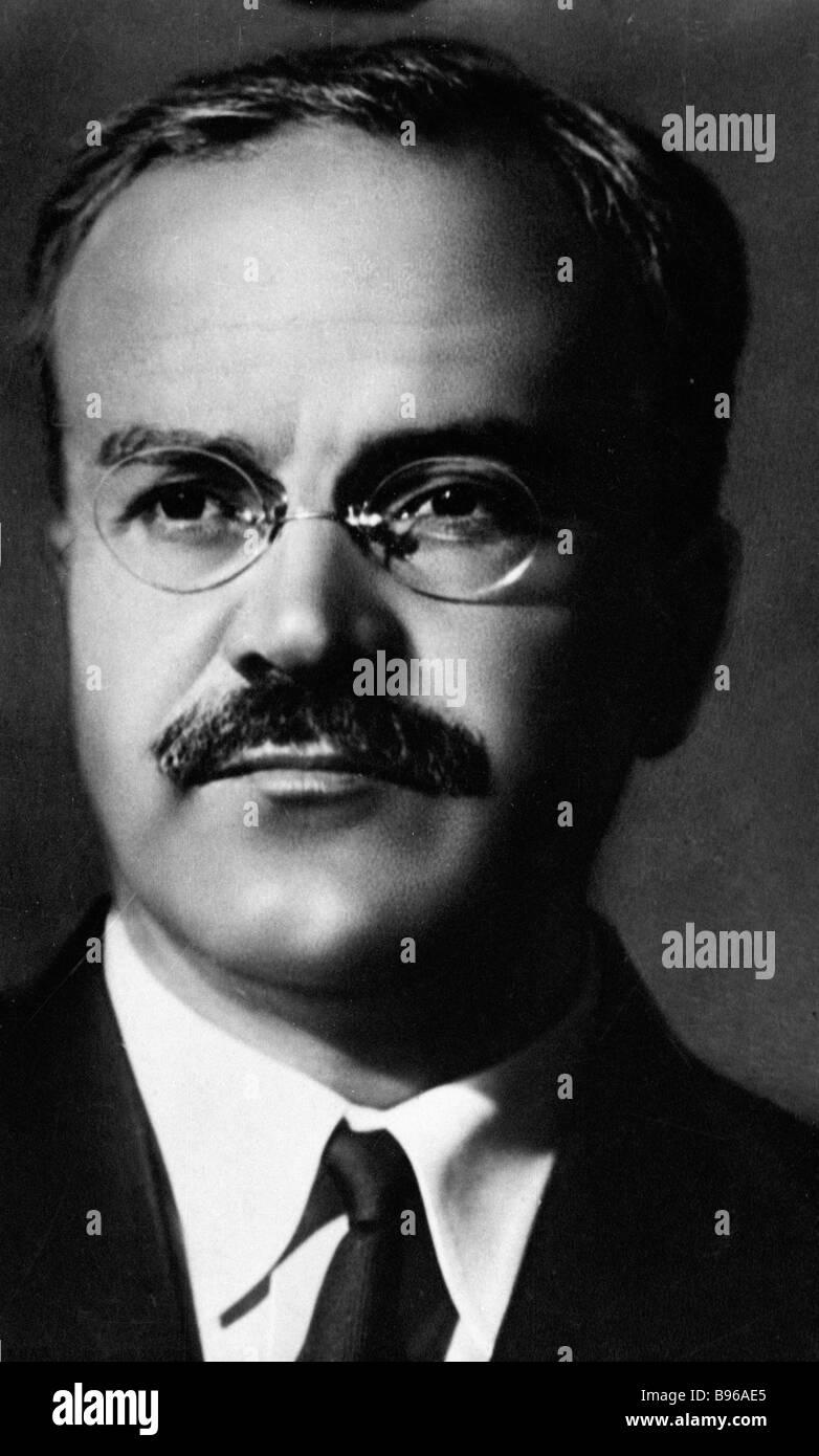Soviet political leader Vyacheslav Molotov - Stock Image