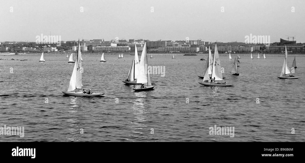 Yachting in Samara - Stock Image