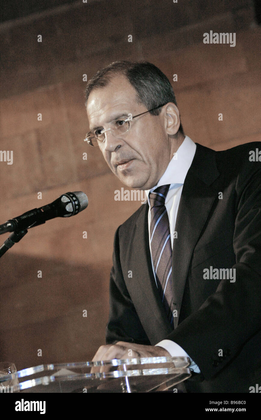 Russian Foreign Minister Sergei Lavrov - Stock Image