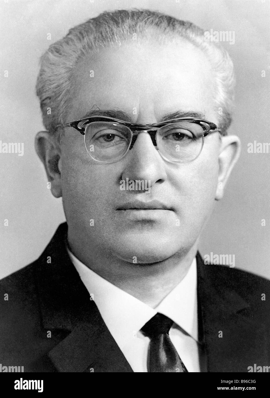 Yury Andropov 1914 1984 Chairman of the State Security Committee KGB of the USSR Council of Ministers Government - Stock Image