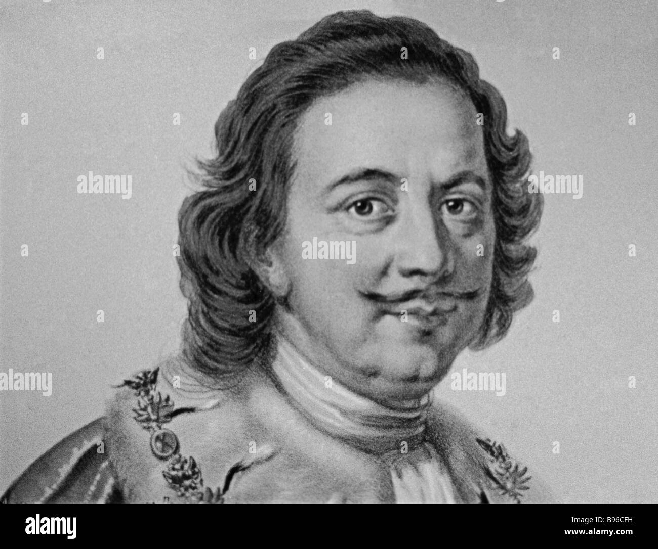 Portrait of the Russian tsar 1682 Peter the Great 1672 1725 - Stock Image
