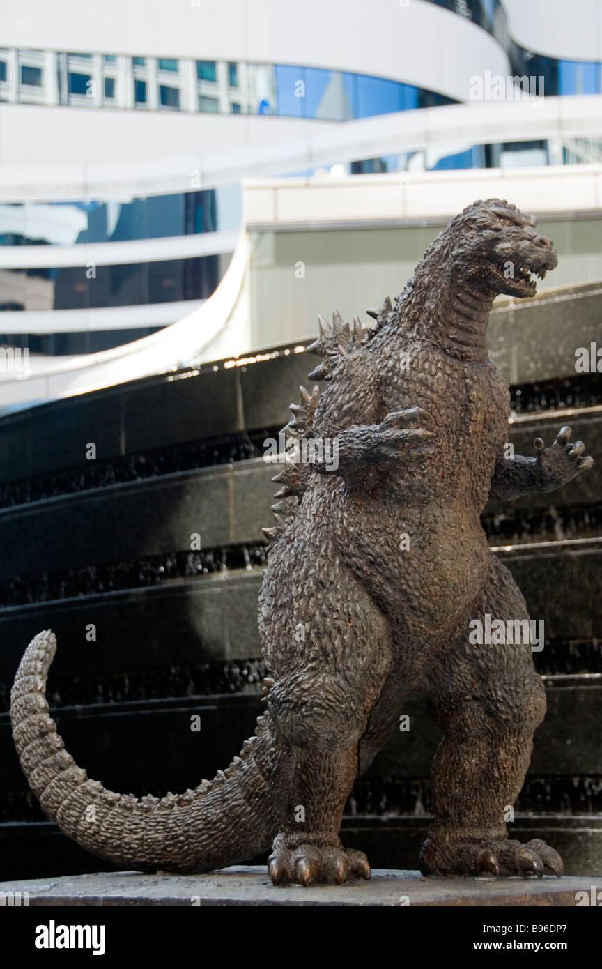 Former Godzilla statue in Ginza, Tokyo - Stock Image