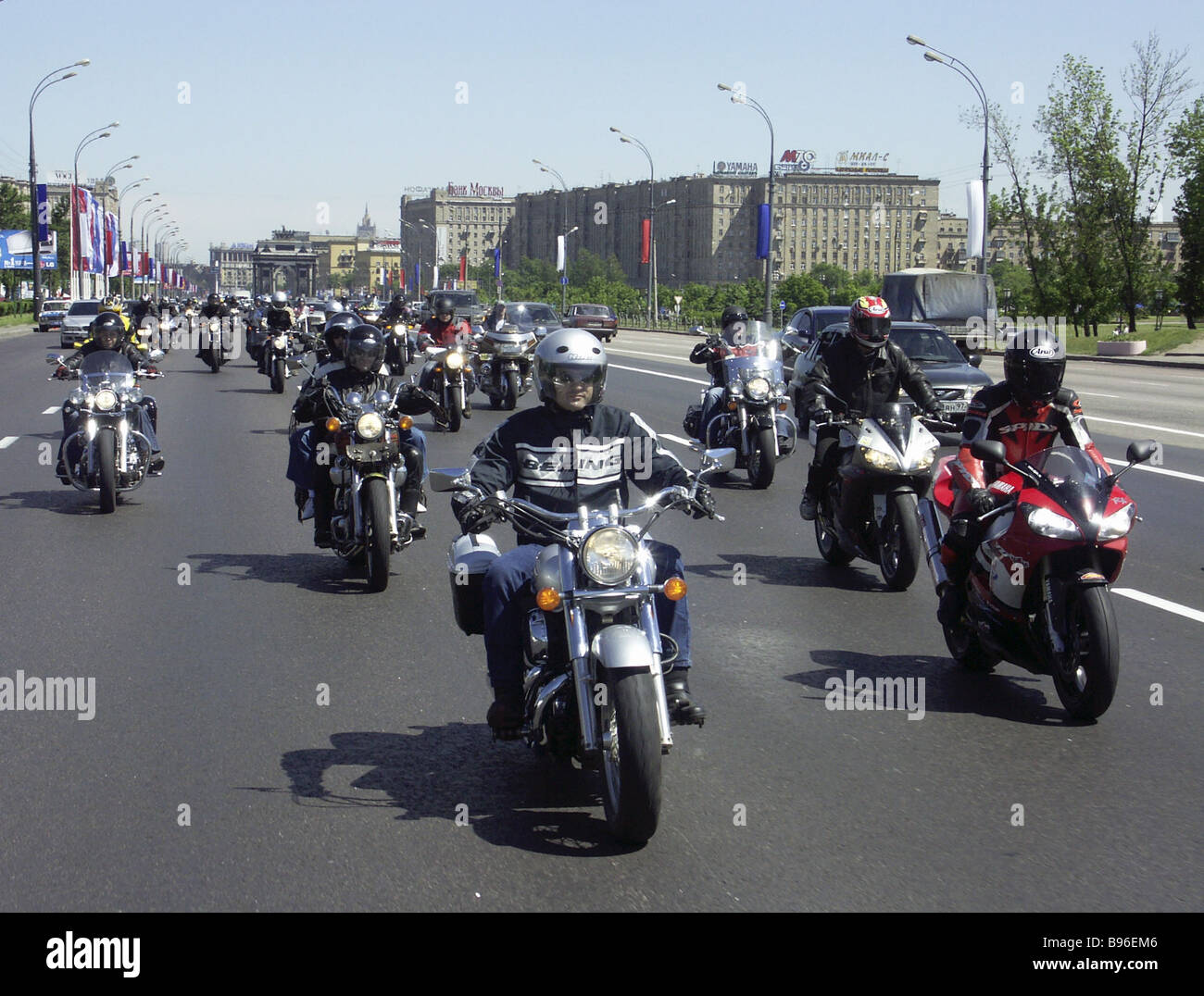 A Russia Day motor race - Stock Image