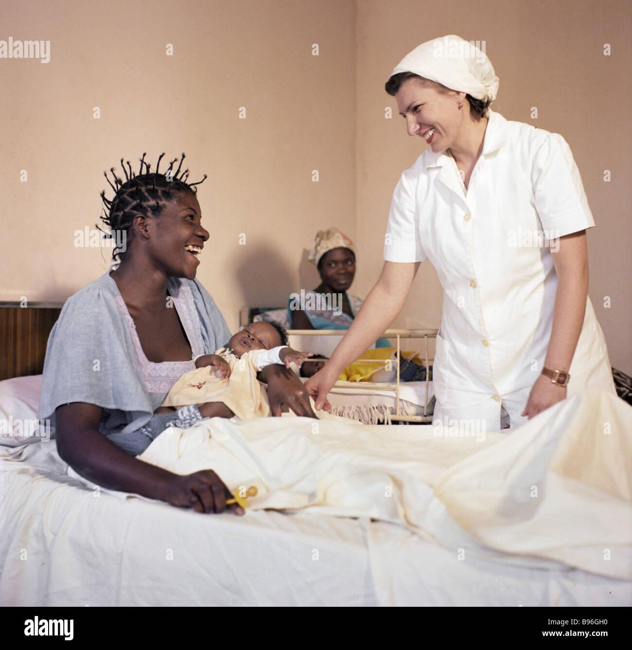 The maternity ward of the Lubango hospital Angola - Stock Image