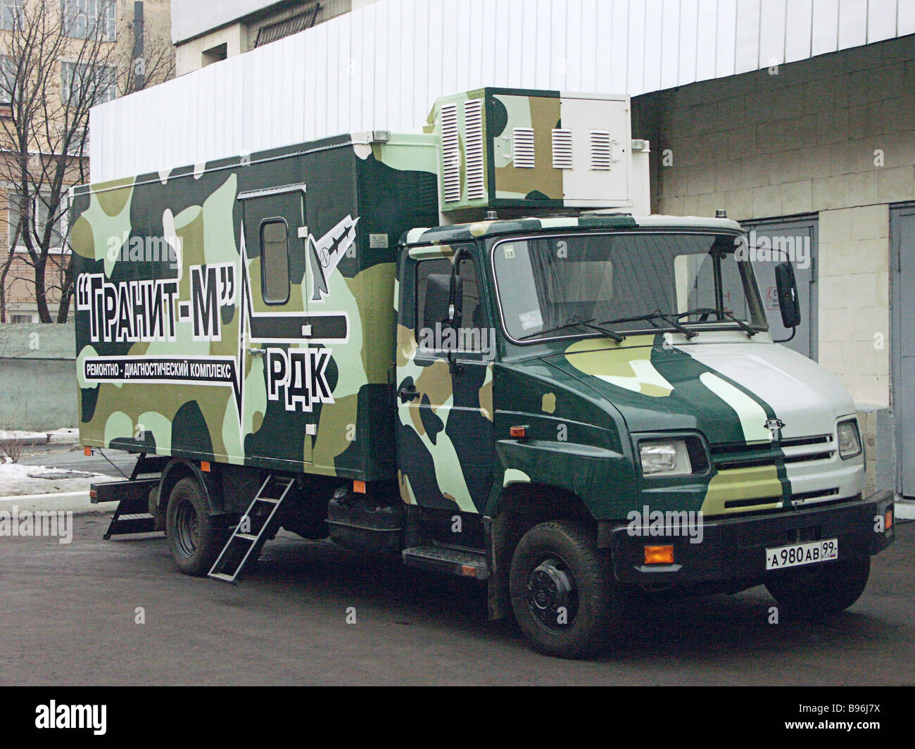 The Granit M multi purpose mobile test and maintenance system of Russian design and manufacture caters for radio - Stock Image