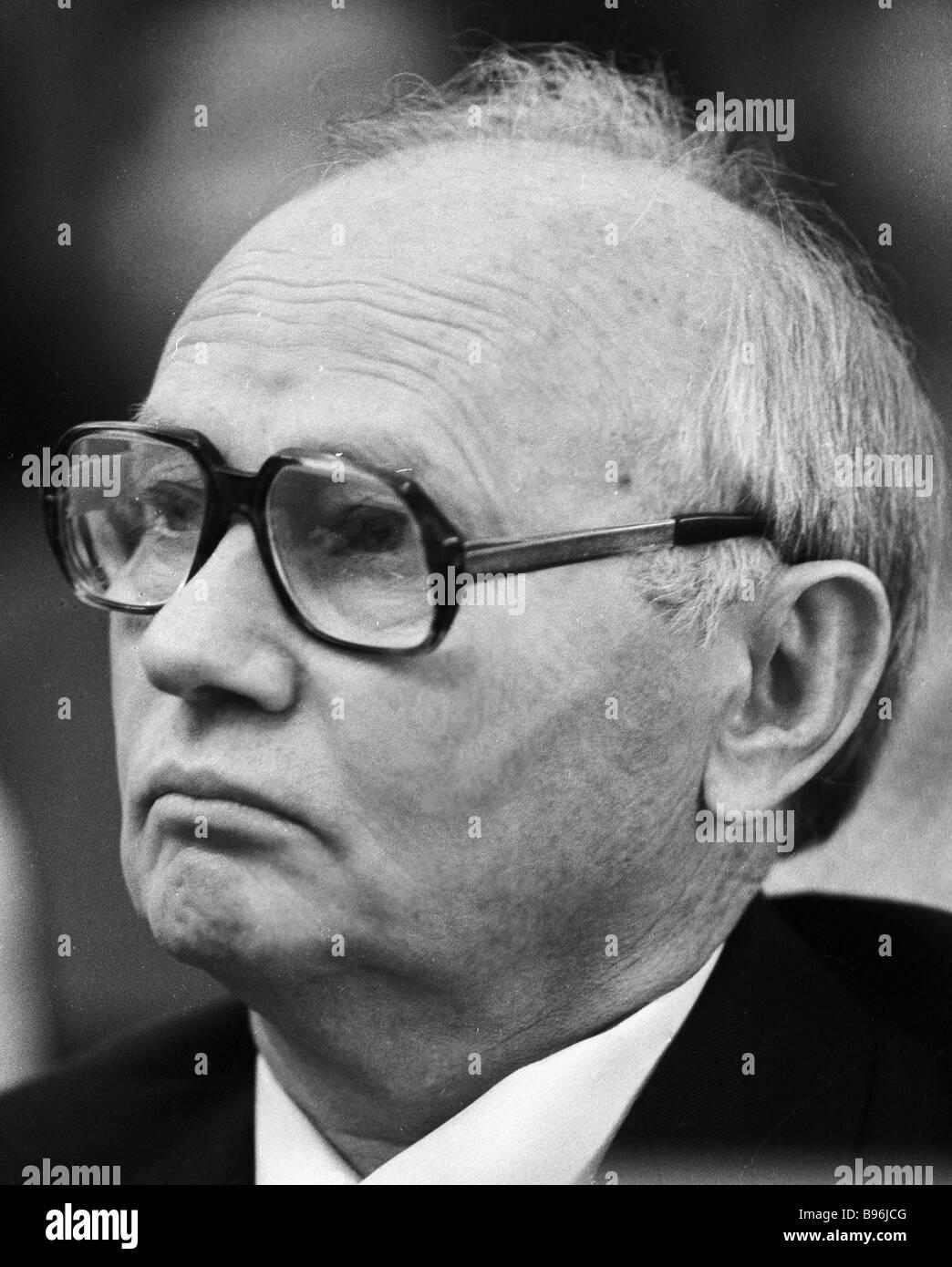 Chairman of the State Security Committee KGB Komitet Gosudarstvennoy Bezopasnosti of the USSR Vladimir Kryuchkov - Stock Image