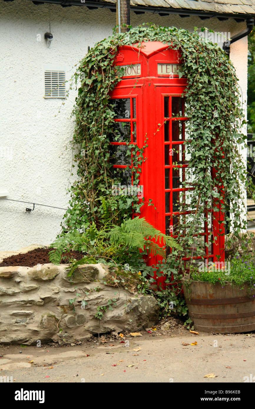 British red telephone box - Stock Image
