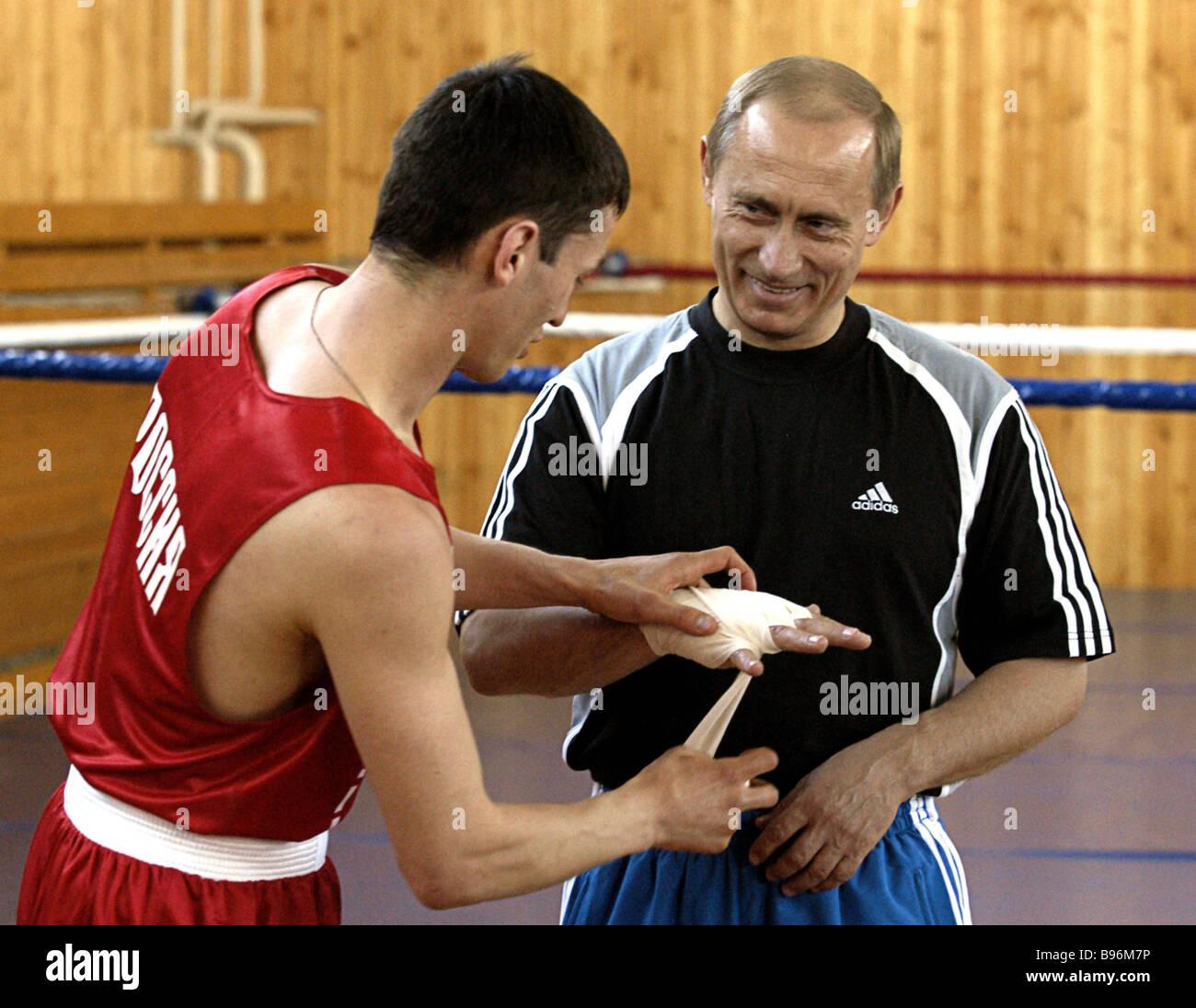 President Vladimir Putin Visiting The Russian Boxing National Team S Stock Photo Alamy