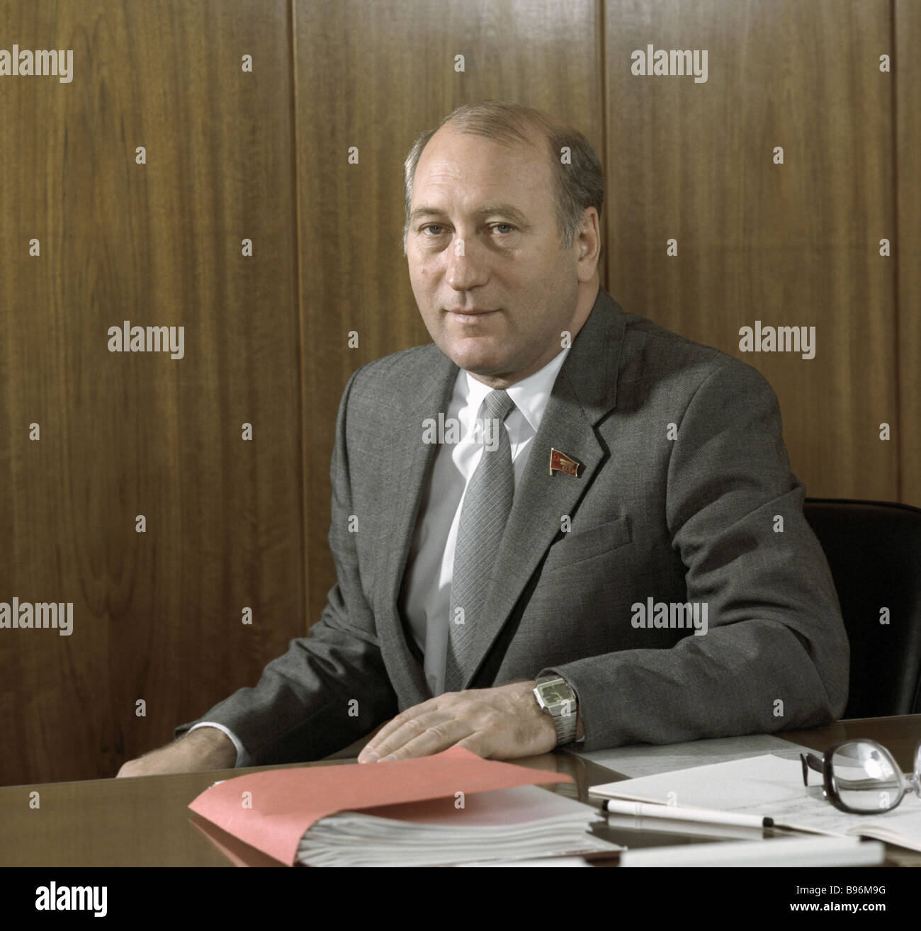 Yuri Manayenkov Secretary of the CPSU CC - Stock Image