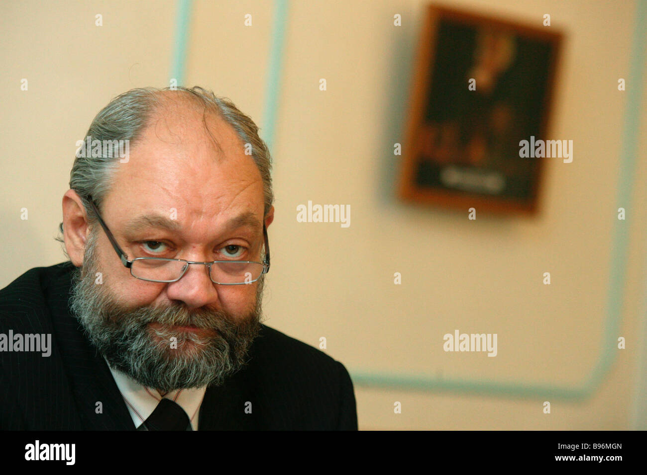 Ilya Konstantinov Social Justice Party ideology secretary department director of the Institute of Civil Society - Stock Image