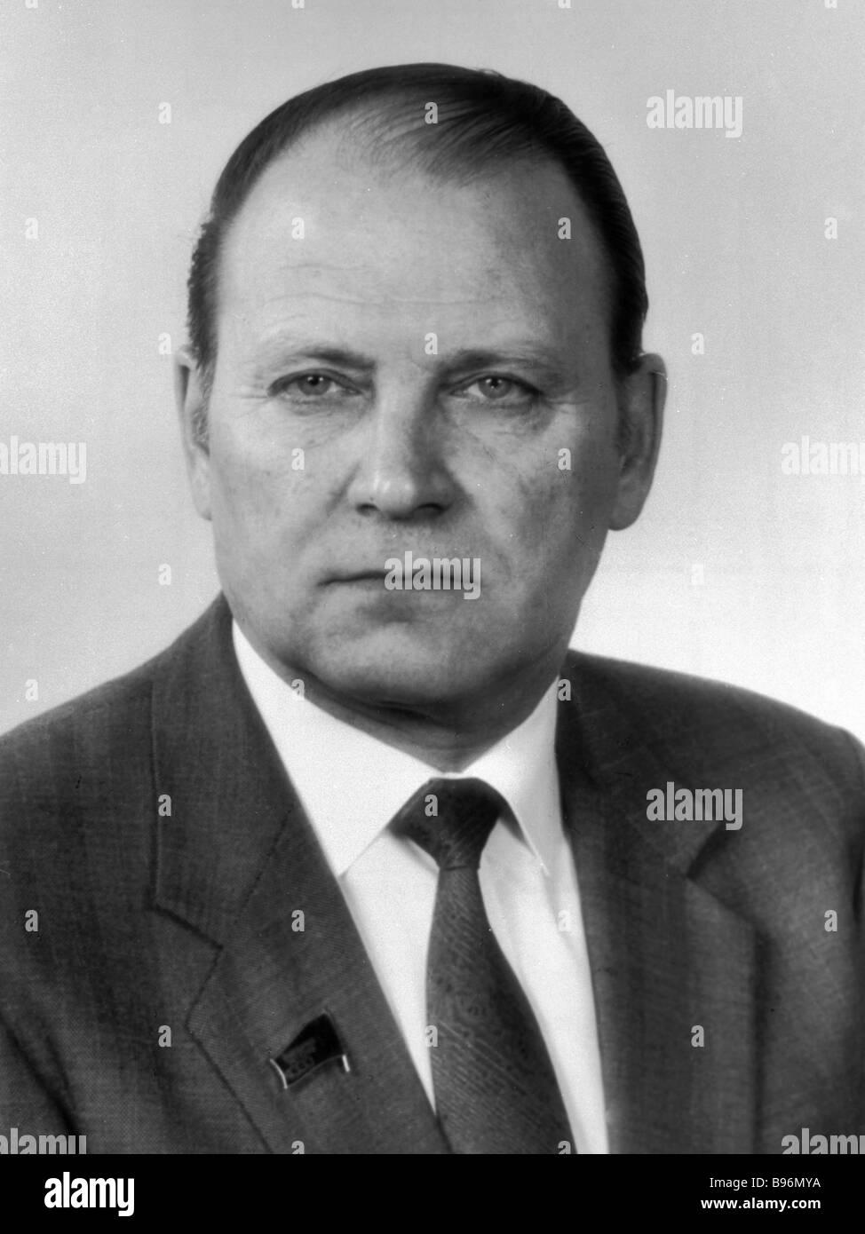 Oleg Shenin member of the Politburo of the CPSU CC and Secretary of the CPSU CC Stock Photo