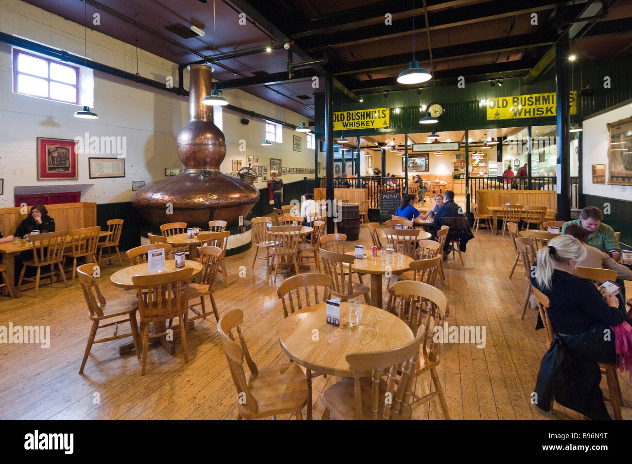 Bar and Cafeteria at the Old Bushmills Distillery, Bushmills, County Antrim, Northern Ireland - Stock Image