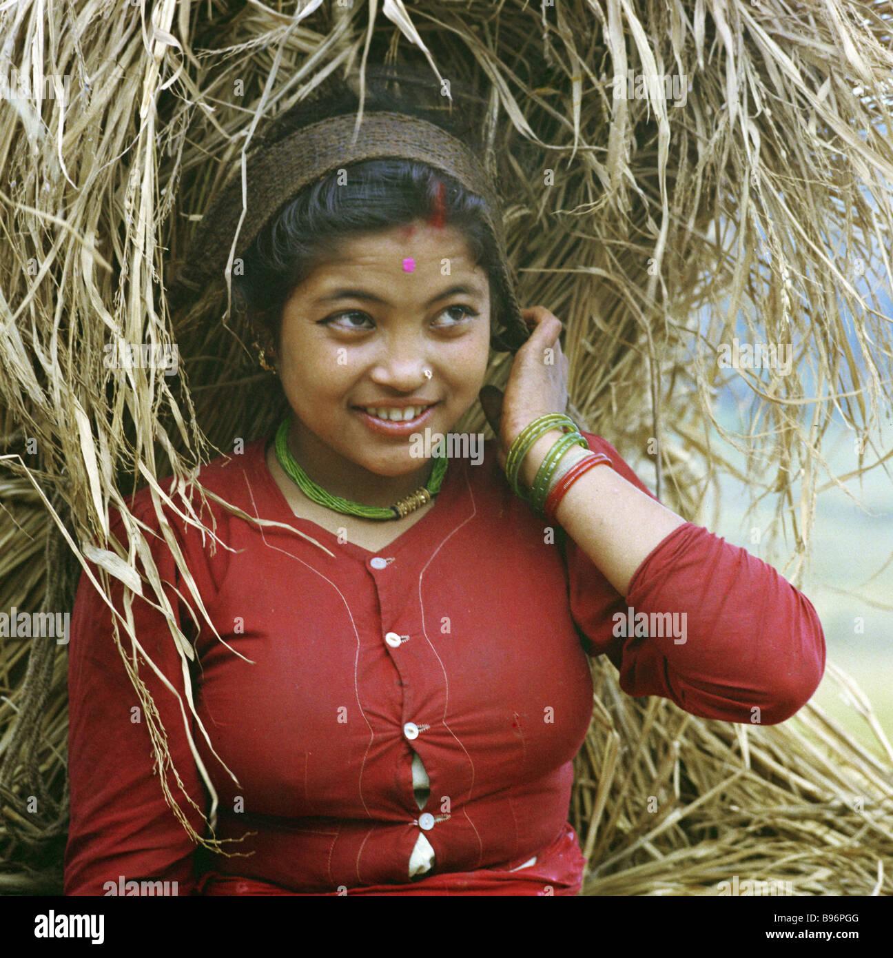 Girl from Katmandu valley - Stock Image