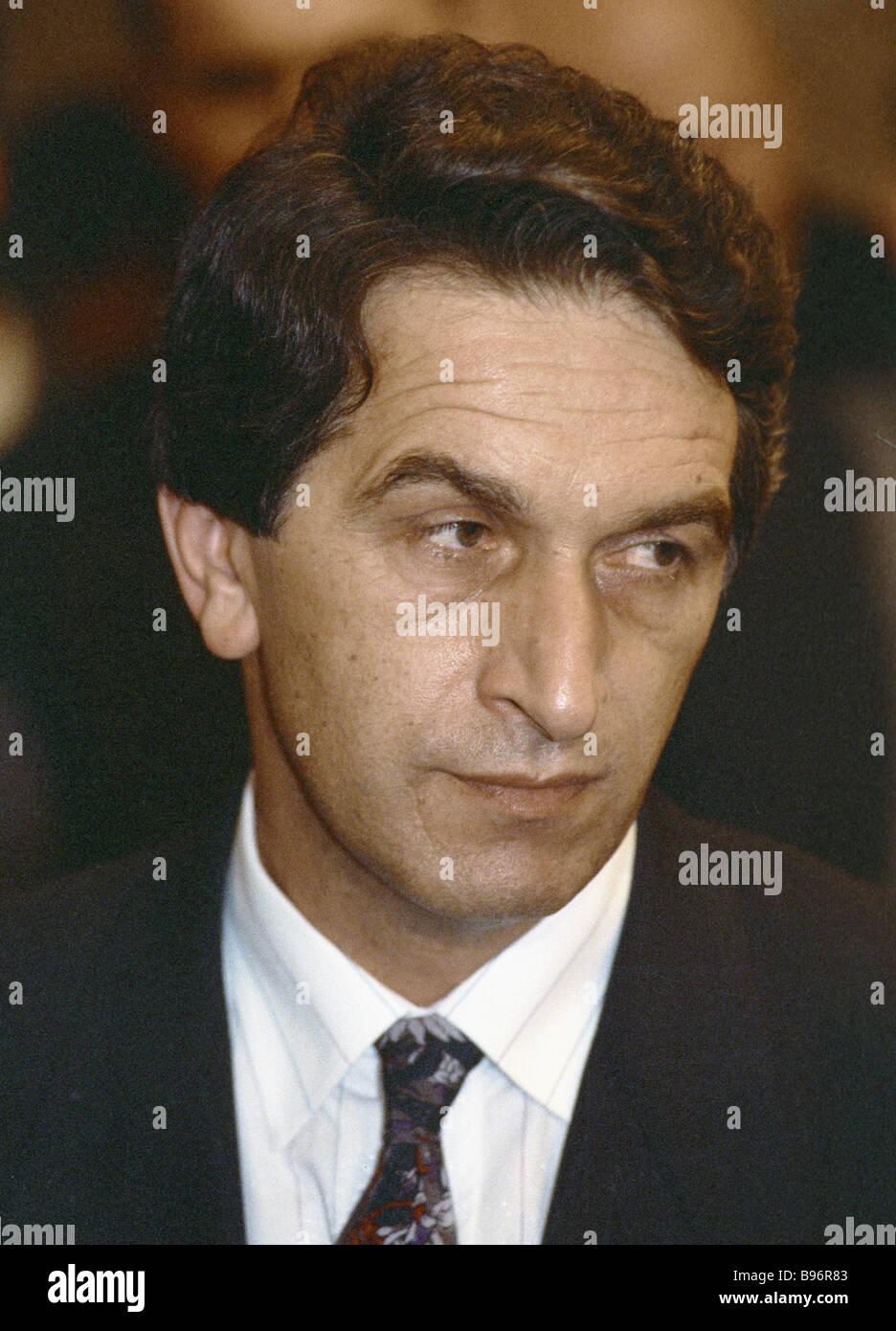Chairman of the Supreme Council of Abkhazia Vladislav Ardzinba - Stock Image
