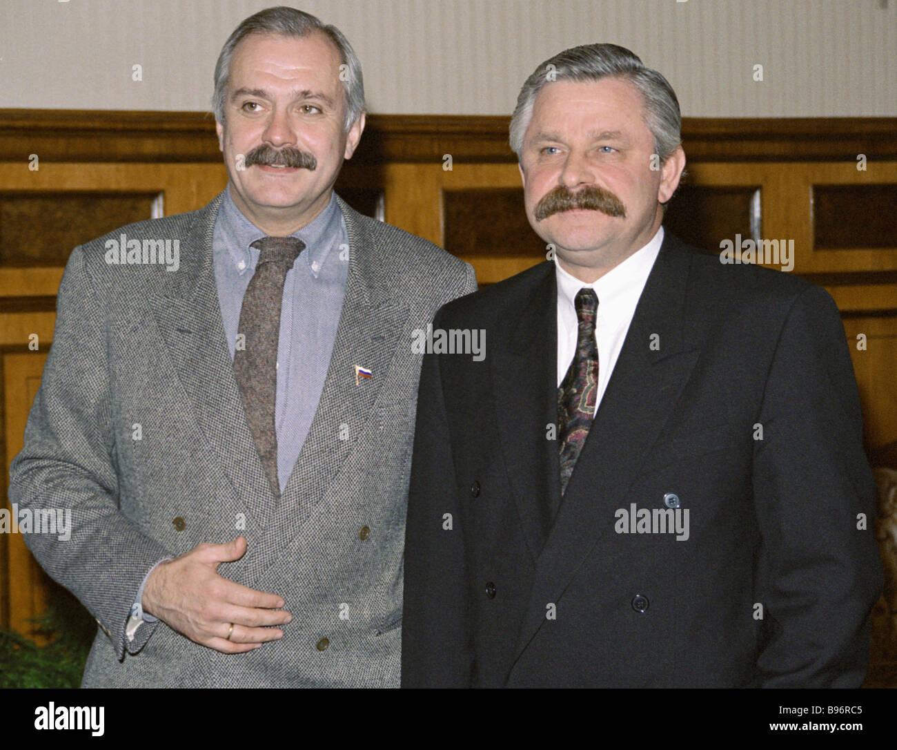 Russian Vice President Alexander Rutskoy Right And Film Director
