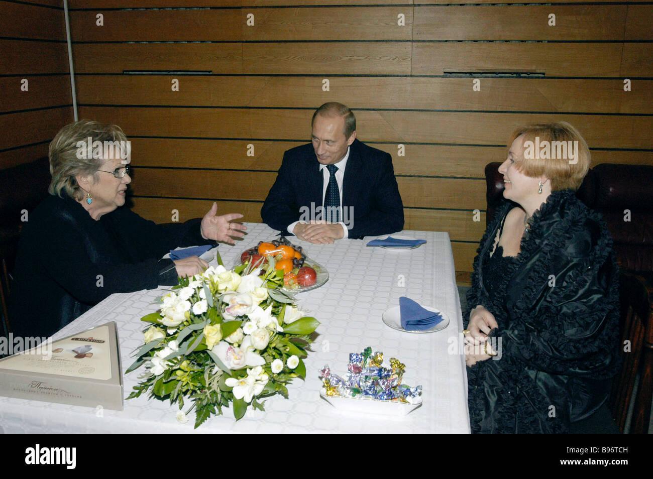 Russian President Vladimir Putin Mrs Lyudmila Putin Right And Galina Stock Photo Alamy