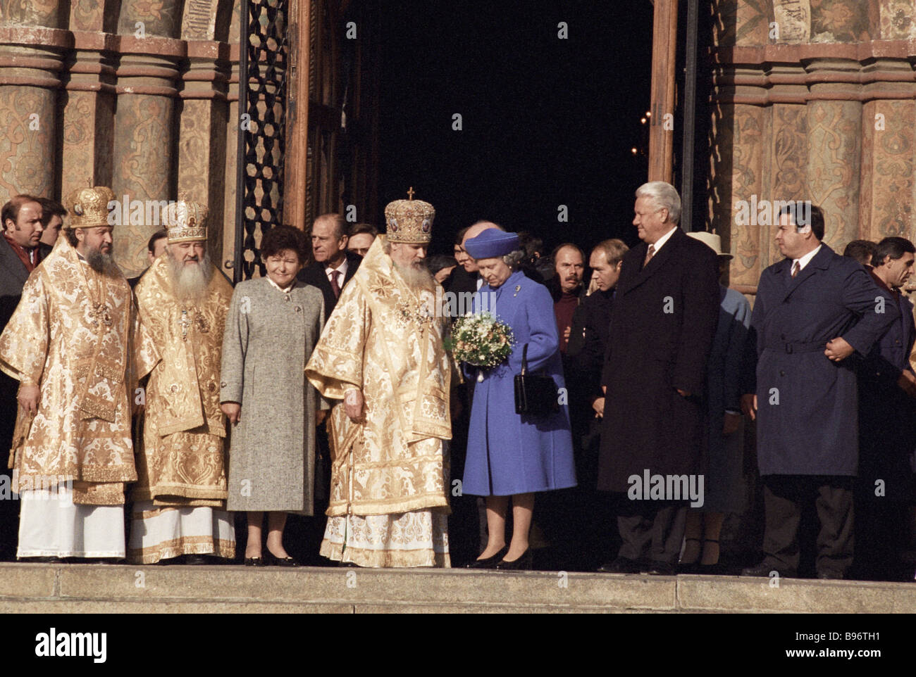 Queen Elizabeth II of the United Kingdom of Great Britain and Northern Ireland in the Moscow Kremlin s Assumption Stock Photo