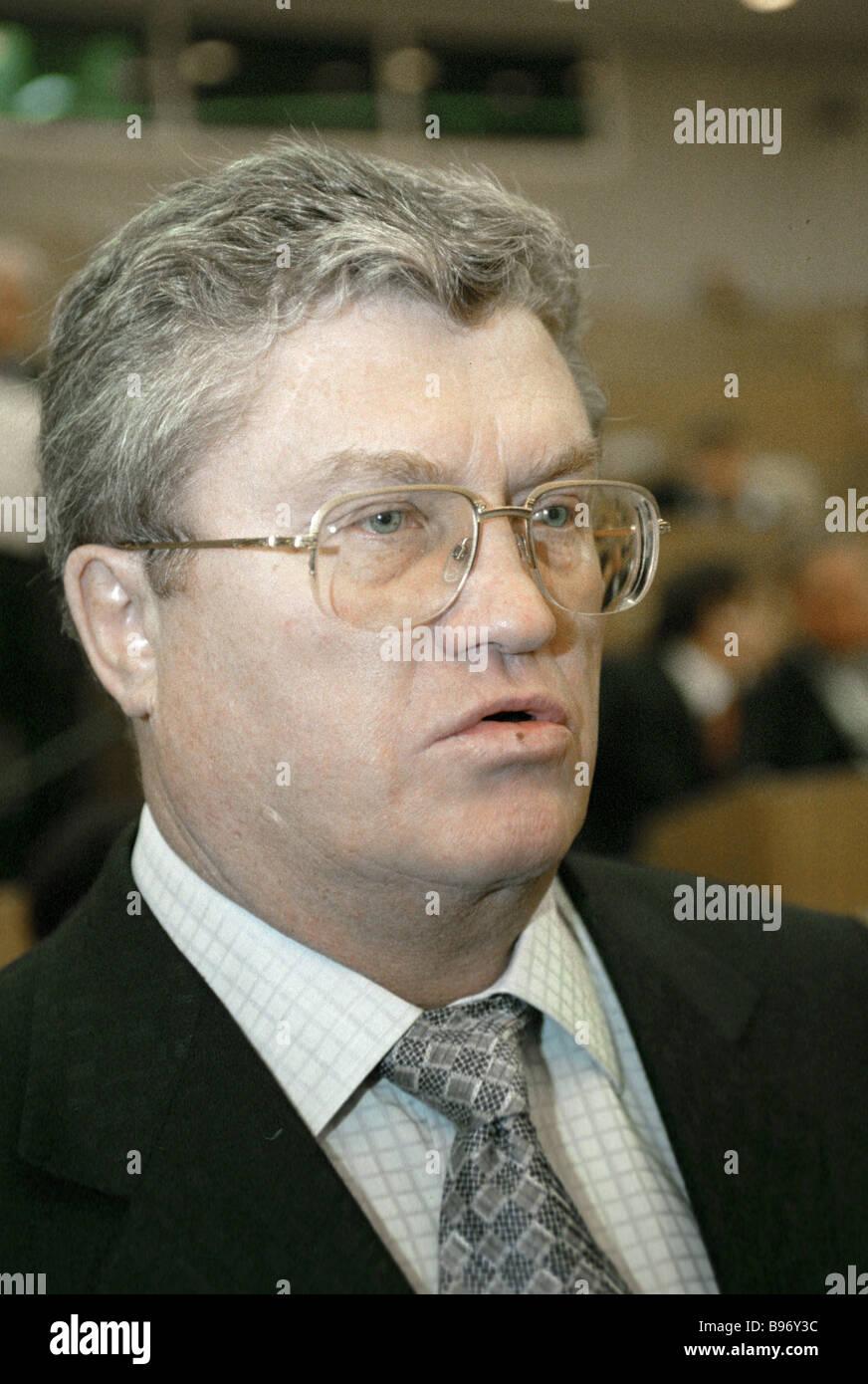 Valeri Yazev Russia s Energy Committee chief - Stock Image