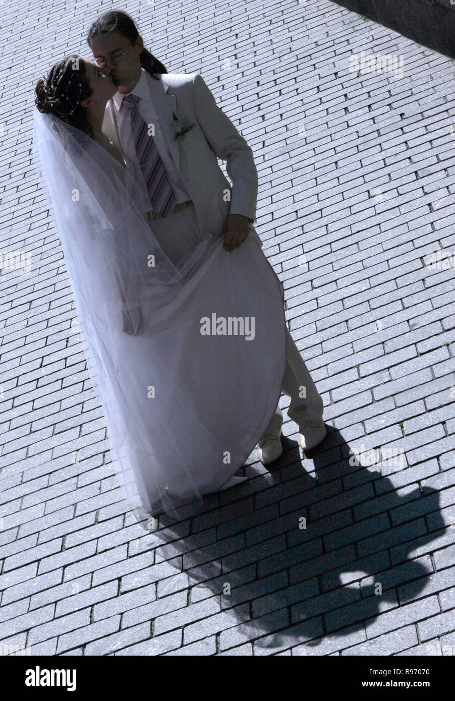 People deem July 7 2007 with its three 7 s an auspicious day for a wedding - Stock Image