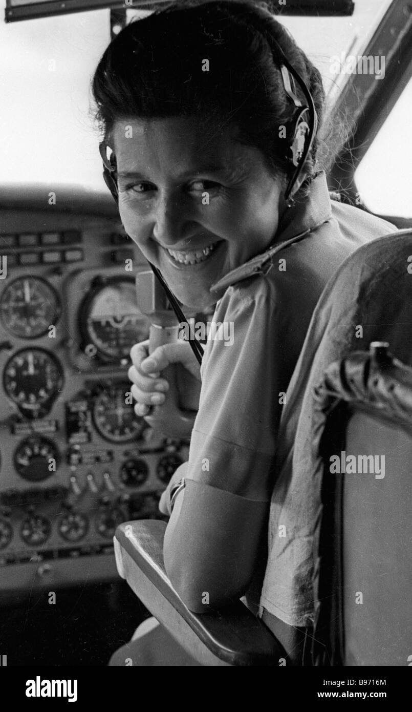 Yak 40 commander at the wheel - Stock Image