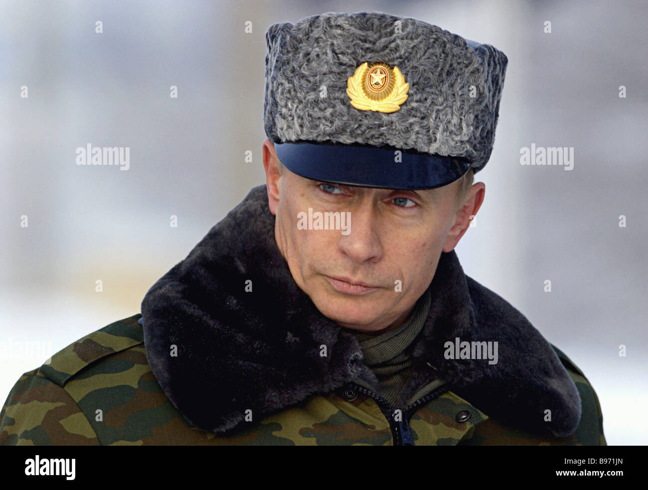 Russian President Vladimir Putin at the Plesetsk space center - Stock Image