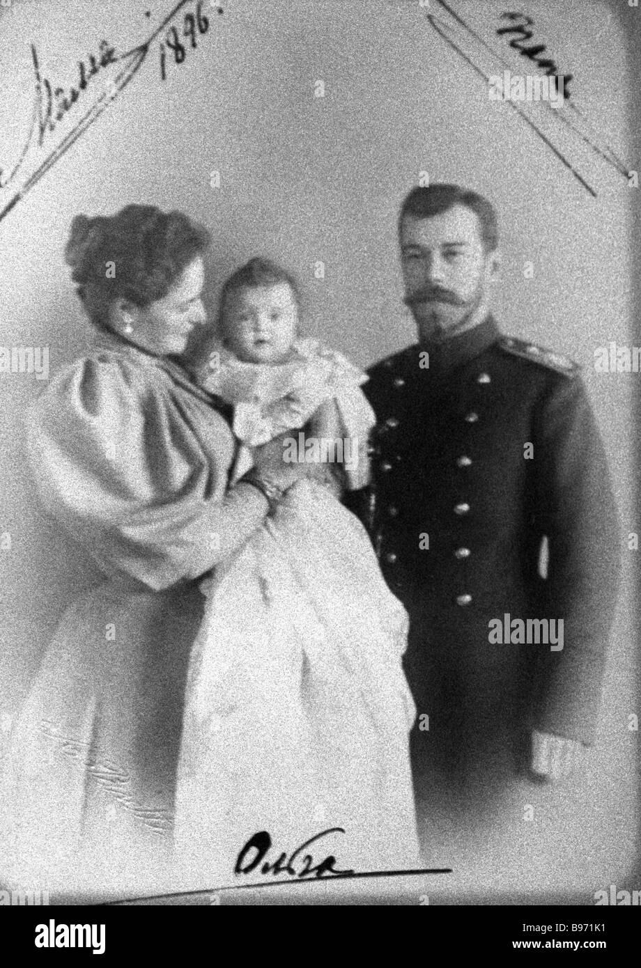 Emperor Nicholas II and Empress Alexandra hunt Russian Romanov Royalty Postcard