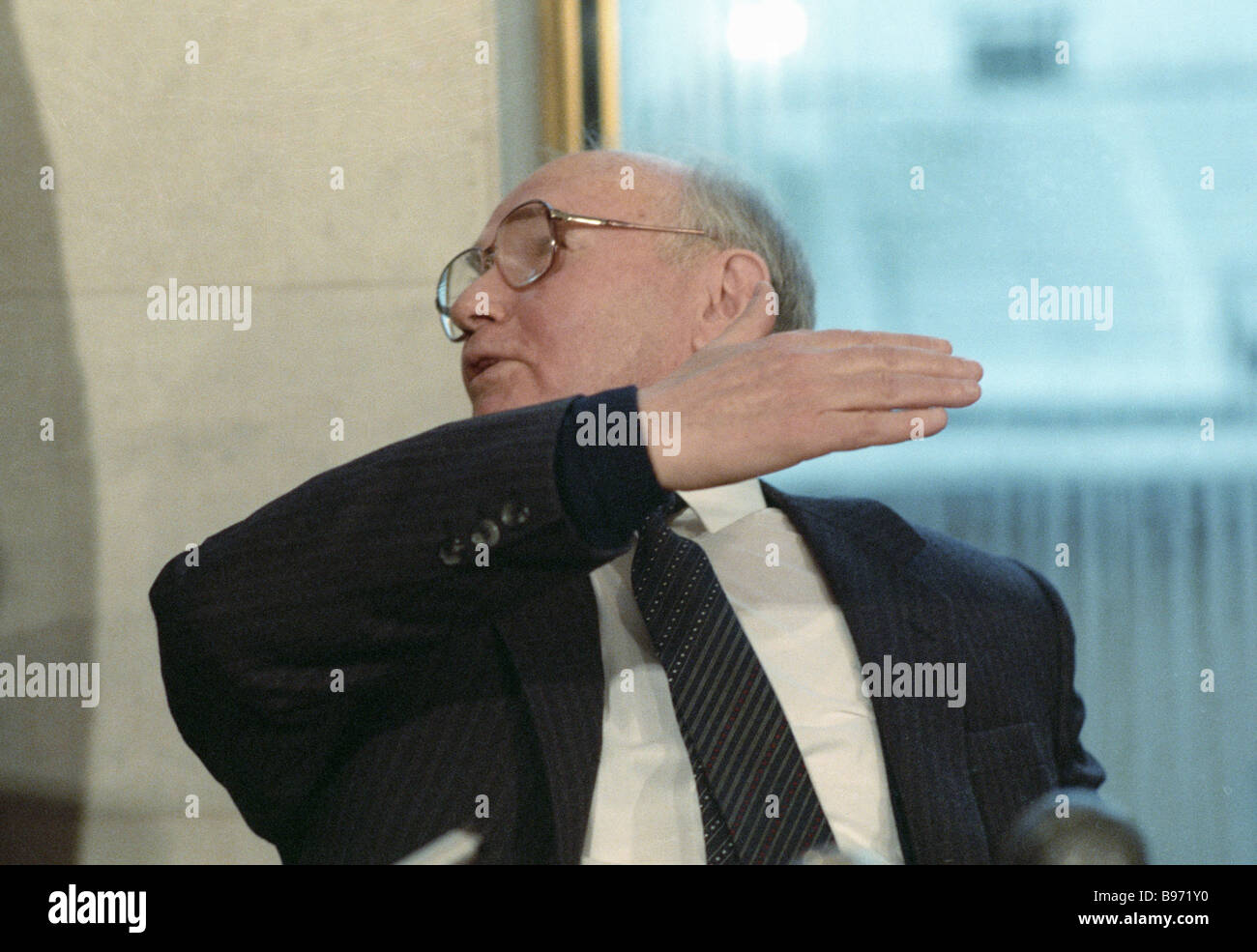 Vladimir Kryuchkov Chairman of the State Security Committee KGB of the U S S R - Stock Image