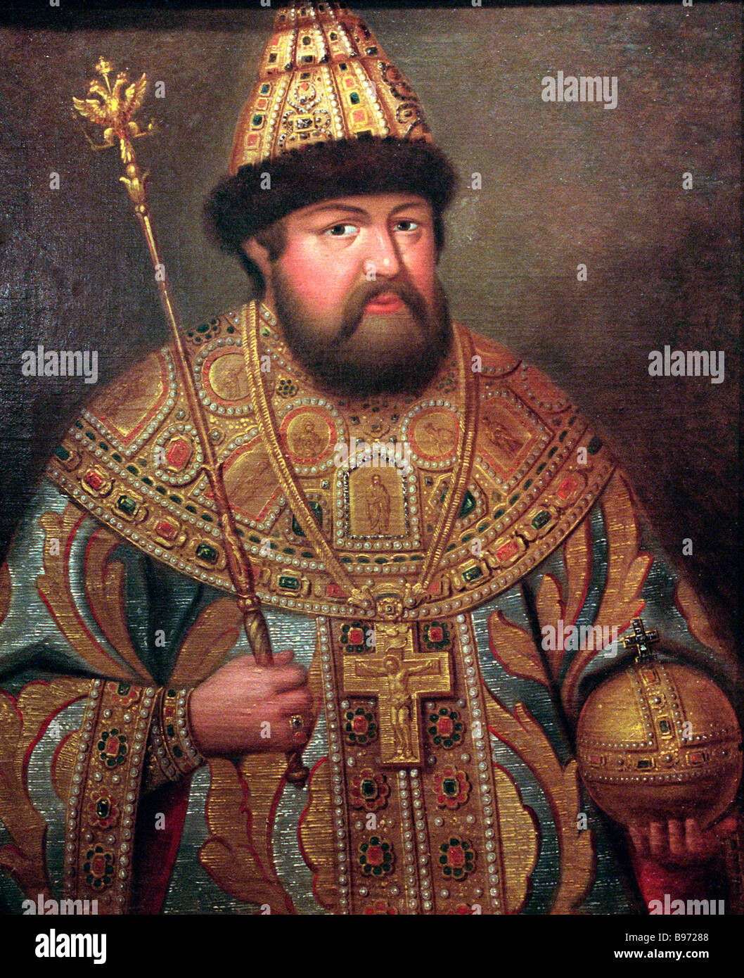 Alexis Mikhailovich surnamed The Meekest 1629 1676 crowned in 1645 was the second Czar of Russia in the Romanov - Stock Image