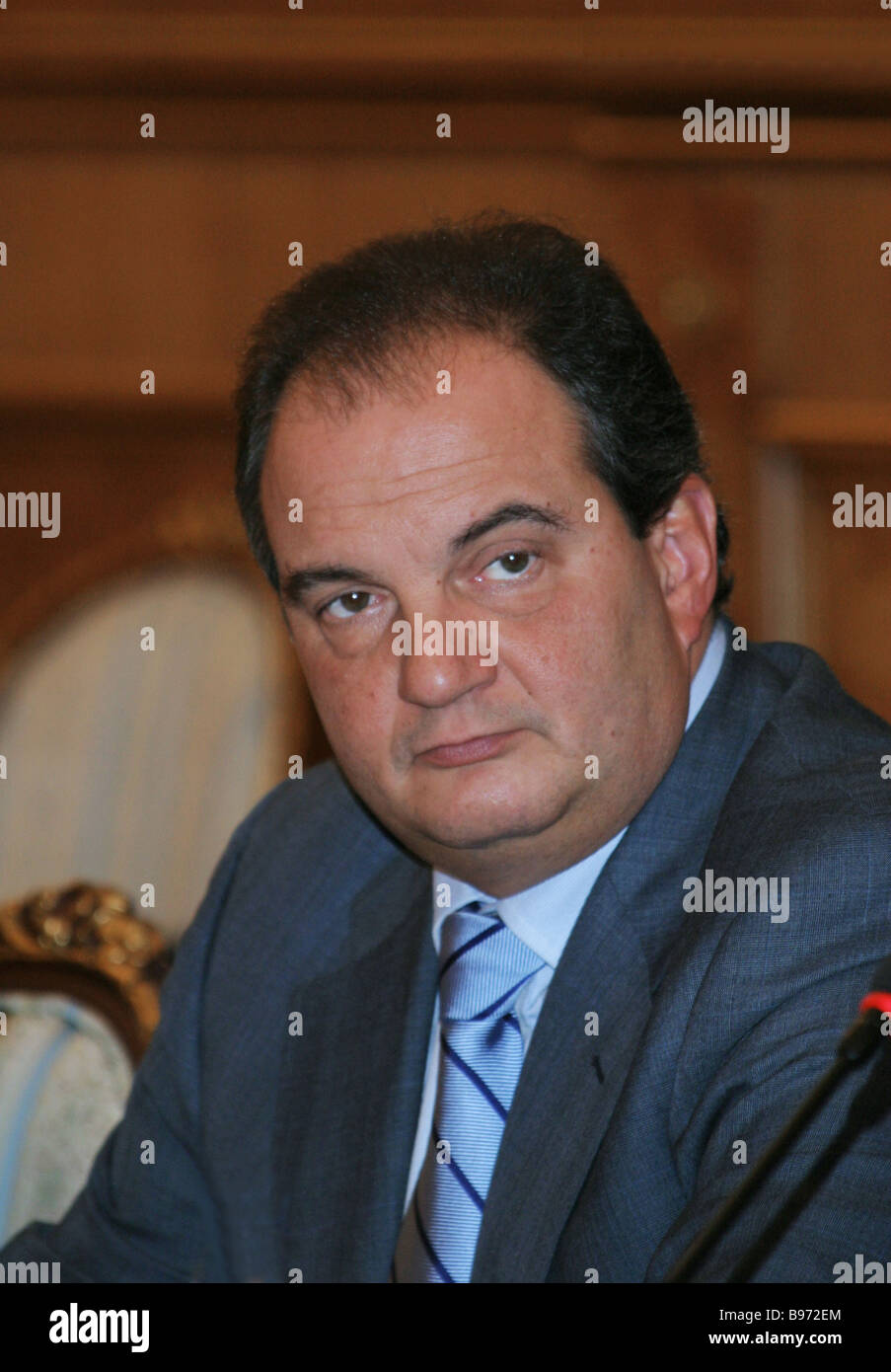 Greek Prime Minister Konstantinos Karamanlis in the Russian Government House - Stock Image