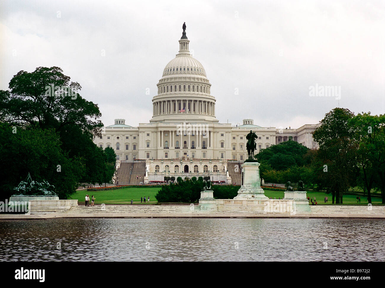 U S Congress holds its sessions in the Capitol The neo classical building was erected in 1793 1865 to a design by - Stock Image