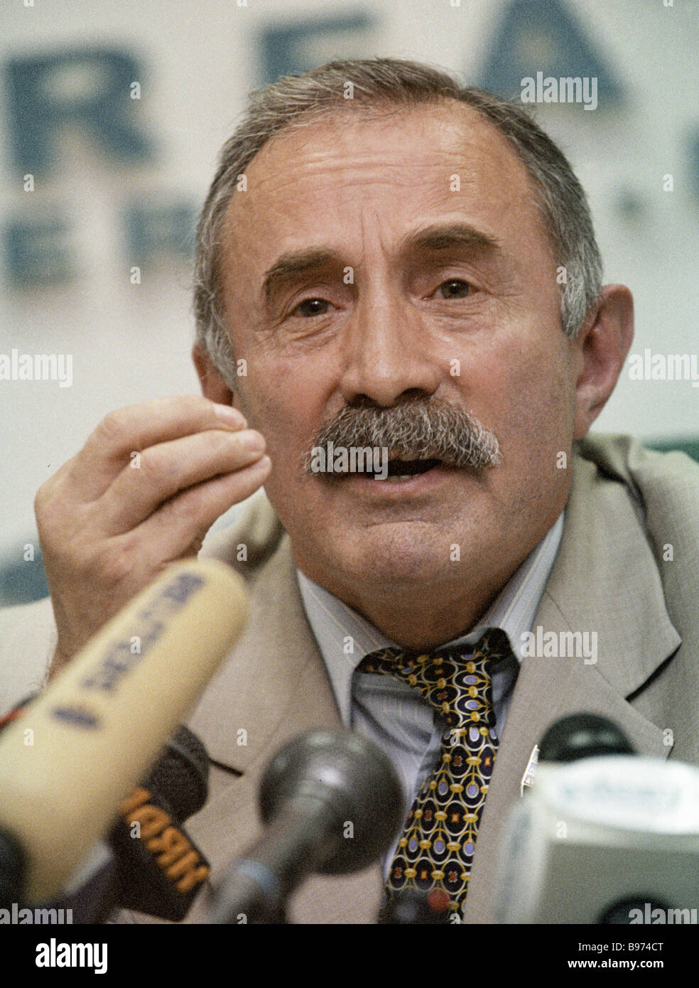 State Duma deputy from Chechnya and republican presidential candidate Aslambek Aslakhanov - Stock Image