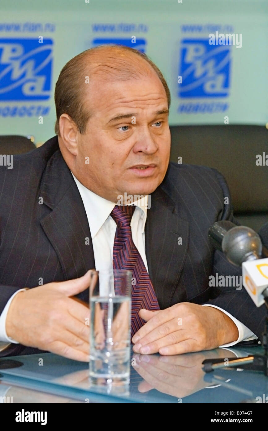 Russia s Minister for Coordinating Federal Operations in the Chechen Republic and chairman of the federal commission - Stock Image