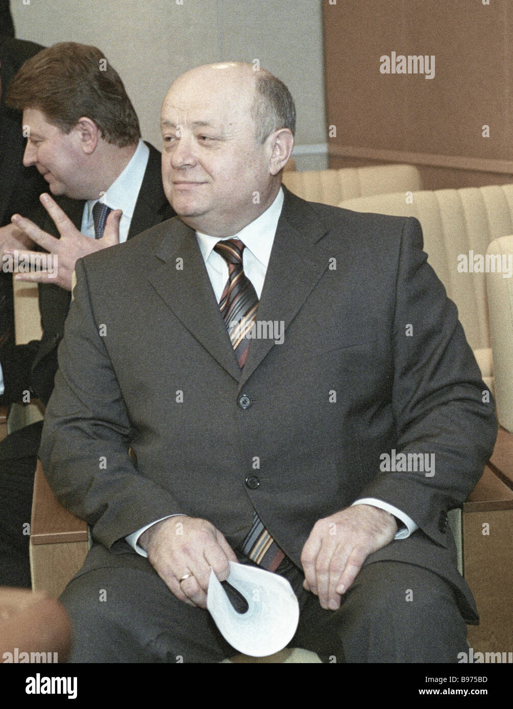Mikhail Fradkov s prime ministerial nomination is approved - Stock Image