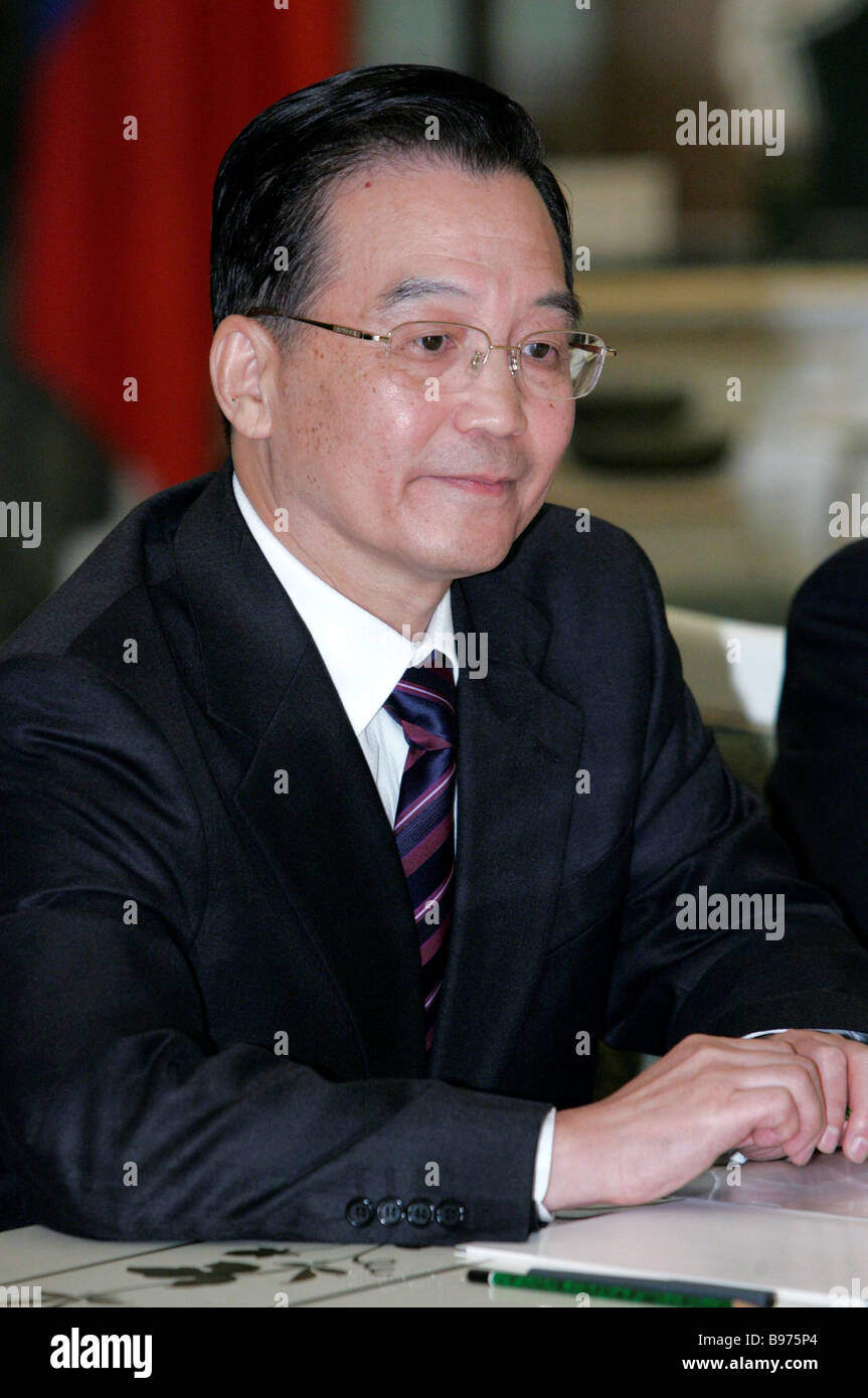 Wen Jiabao China s State Council Premier - Stock Image
