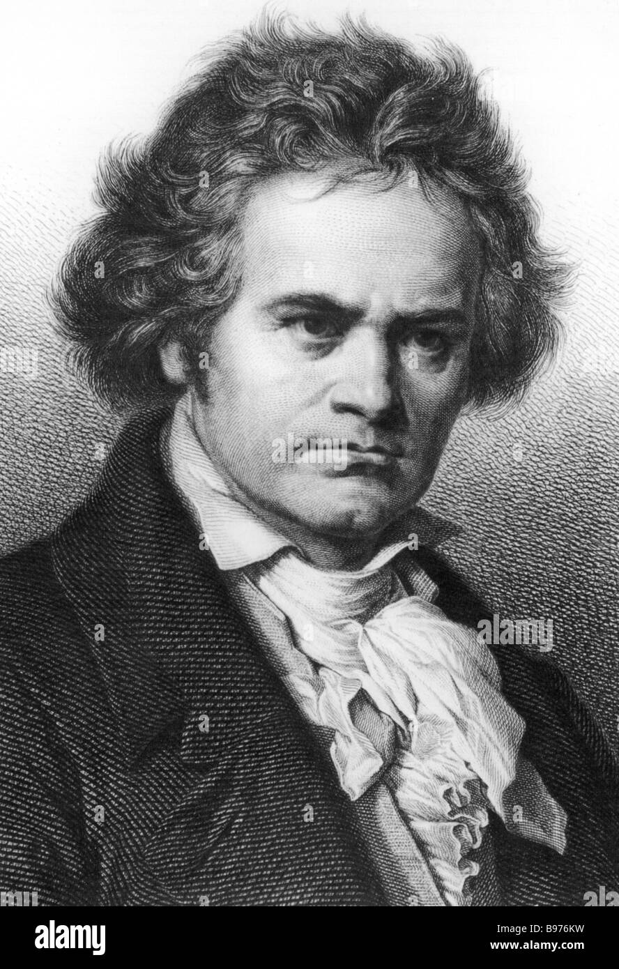 LUDWIG VAN BEETHOVEN German composer 1770 to 1827 Stock Photo