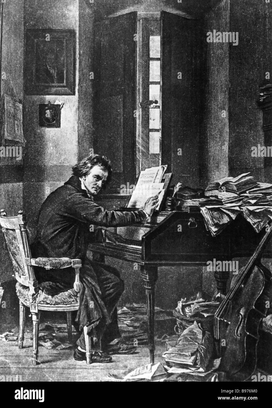 LUDWIG VAN BEETHOVEN German composer 1770 to 1827 - Stock Image