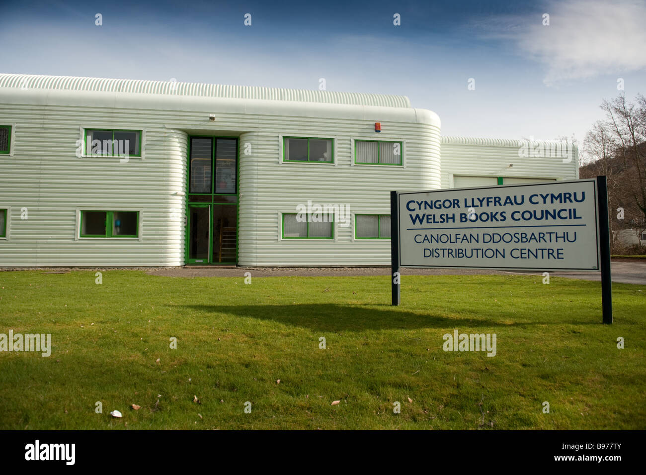 The Wales Book Council warehouse and distribution centre Aberystwyth Wales UK - Stock Image
