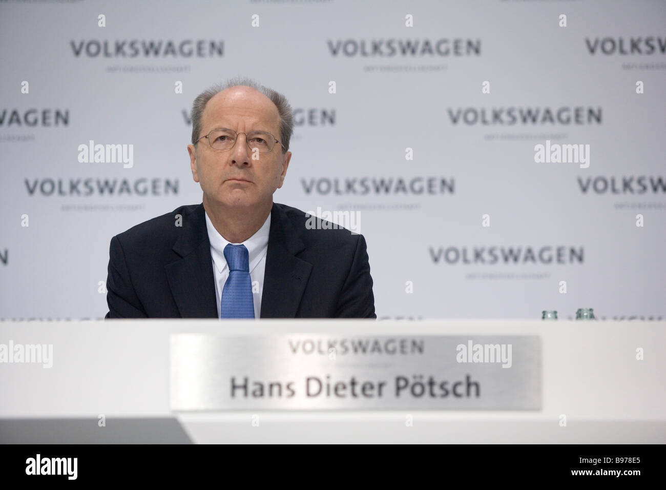 Hans Dieter Poetsch member of the board of the Volkswagen AG during annual press conference 2009 - Stock Image