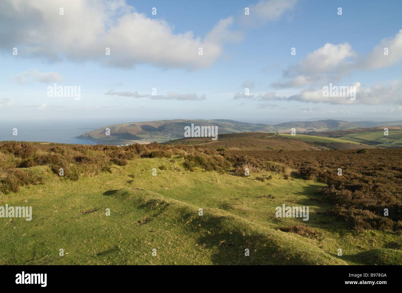 View from Porlock Hill Exmoor Stock Photo