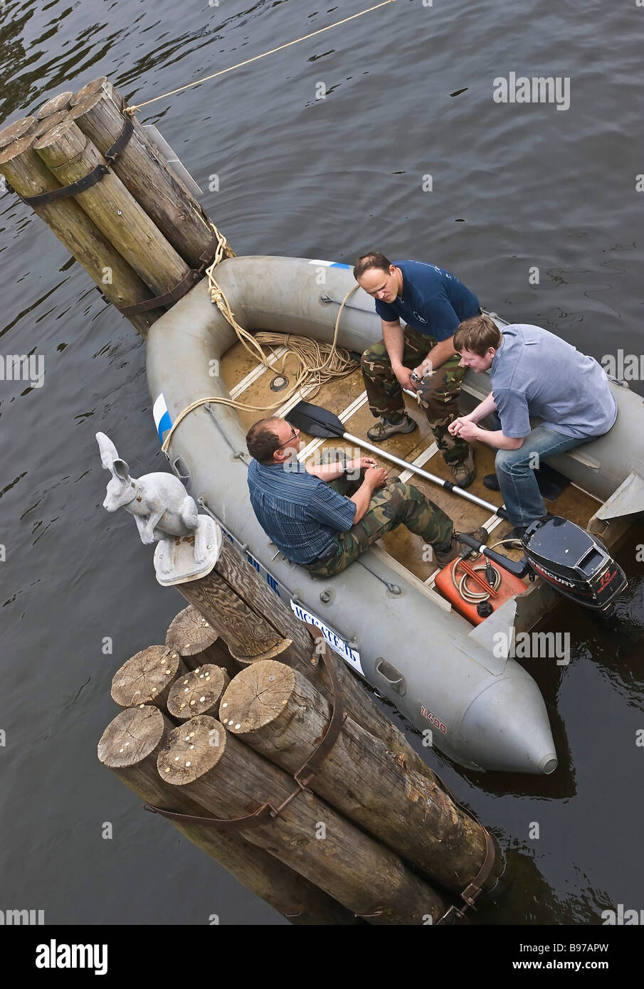 The search for the exclusive HELLMUTH watch worth 200 000 which fell in water near Ioanovsky Bridge of the St Peter - Stock Image