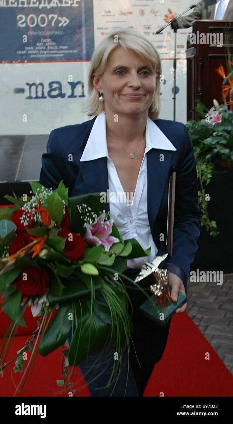 Svetlana Mironyuk Editor In Chief of the Federal State Unitary Enterprise Russian News Information Agency RIA Novosti - Stock Image