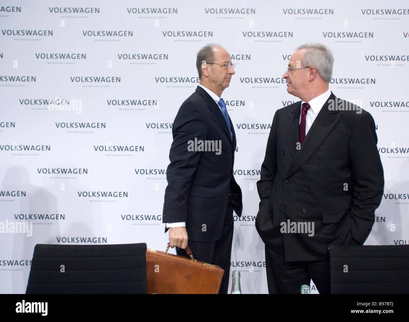 Prof Dr Martin Winterkorn and Hans Dieter Poetsch - Stock Image