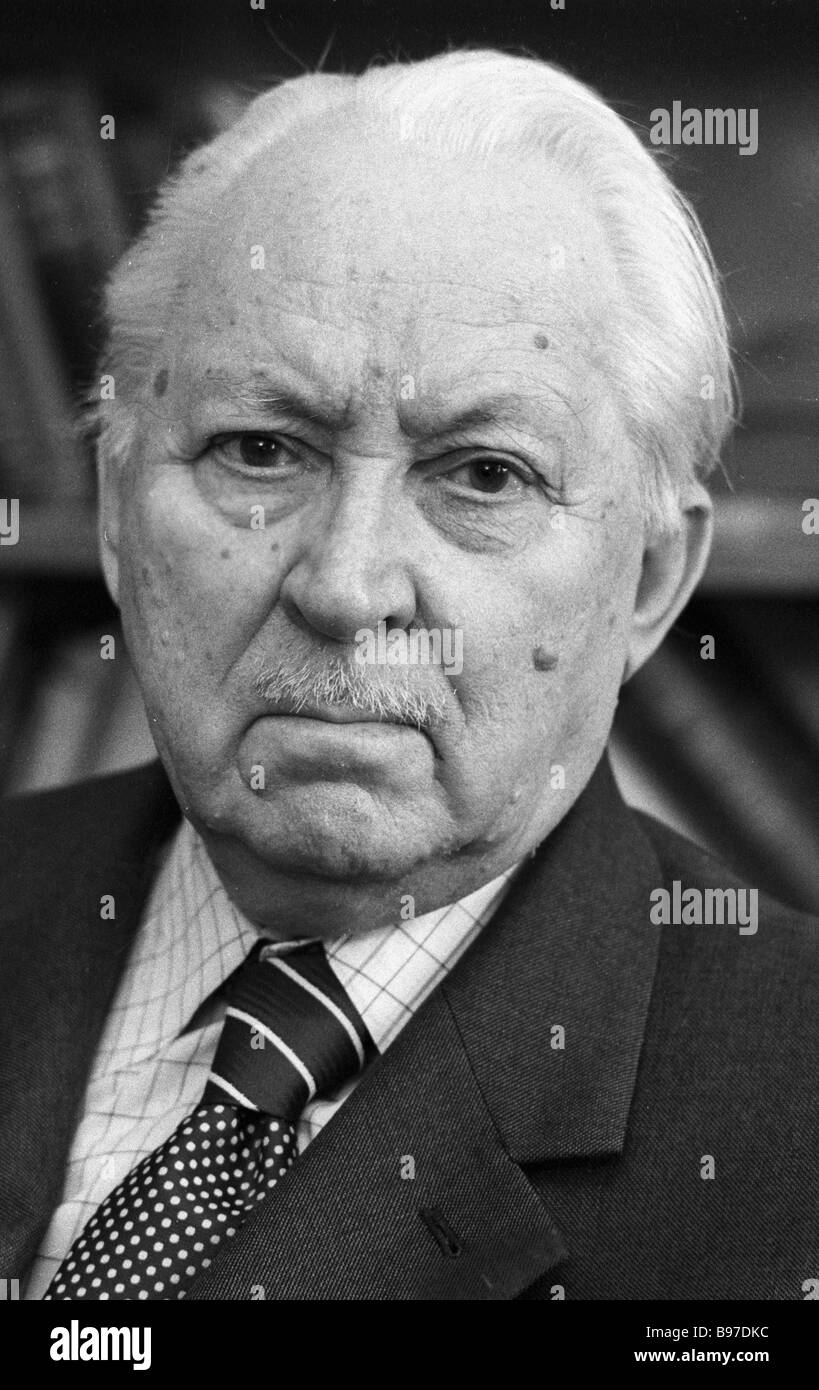 Bonifaty Kedrov full time member of the Soviet Academy of Sciences and the International Academy of History of Science - Stock Image