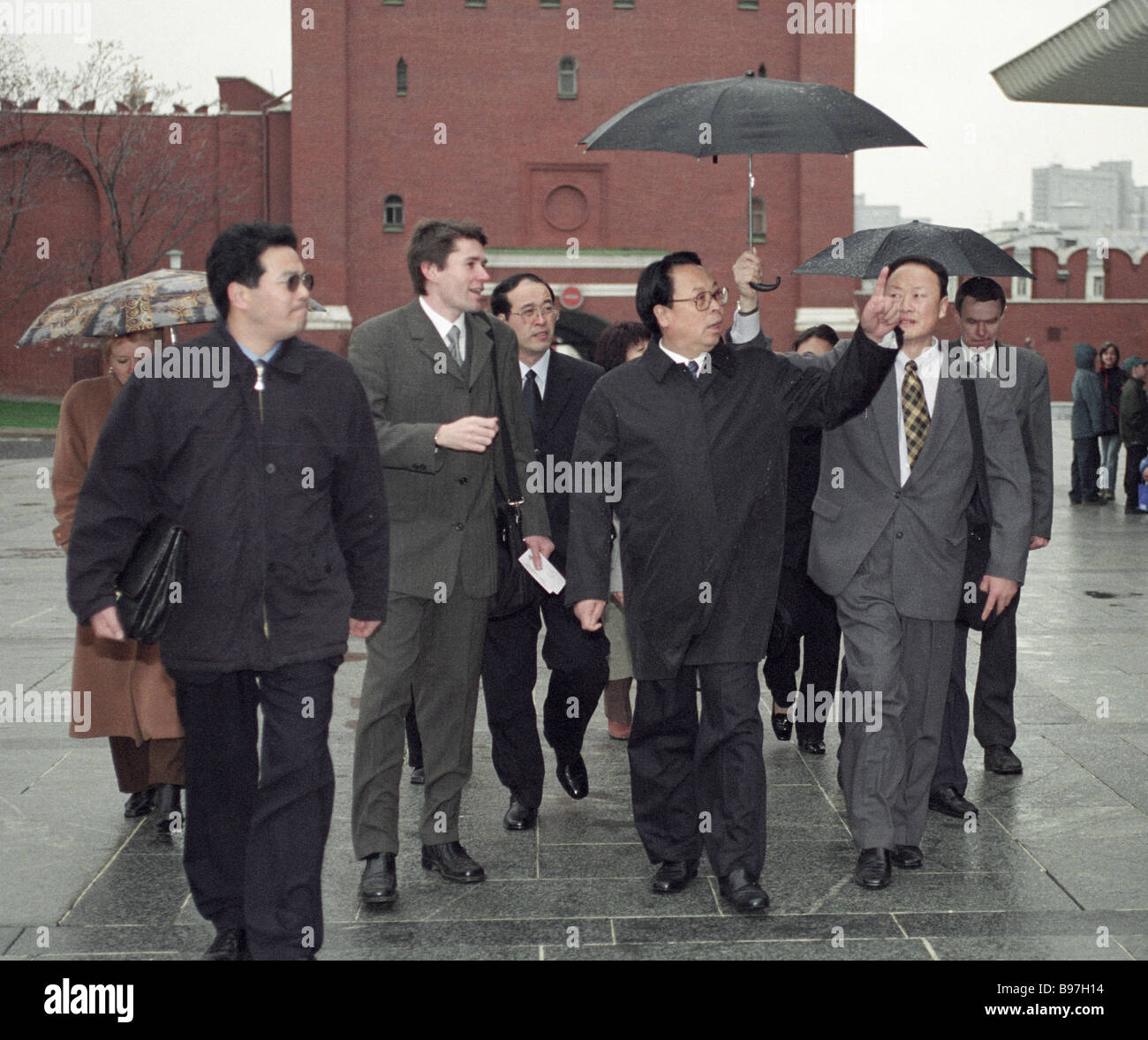 Members of delegation of China s State Administration of Radio Film and Television headed by president Xu Guang - Stock Image